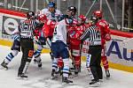 Finále play off hokejové Tipsport extraligy - 1. zápas: HC Oceláři Třinec - Bílí Tygři Liberec, 18. dubna 2021 v Třinci.