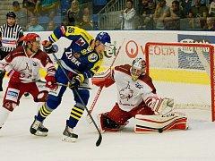 Hokejisté Frýdku-Místku propásli v Přerově dvoubrankové vedení a s domácími Zubry nakonec prohráli v prodloužení.