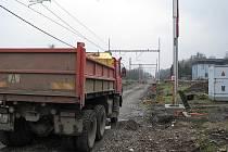 Stavba železničního koridoru v Třinci. Ilustrační snímek.