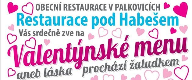 Valentýnské menu.