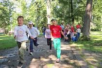 Městská policie připravila několik disciplín pro děti. Mohly si vyzkoušet běh na čtyři sta metrů, kliky nebo třeba psychotesty.