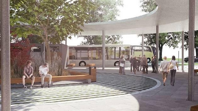 Vizualizace nového stanoviště napovídá, že cestující by se měli dočkat dostatečného prostoru při čekání na autobusové spoje.