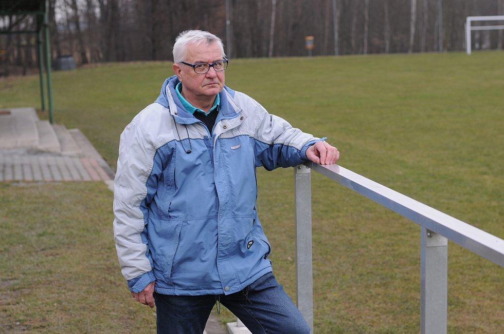 Předseda TJ Dobratice Břetislav Bortlíček.