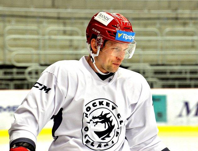 Petr Vrána na prvním tréninku vTřinci.