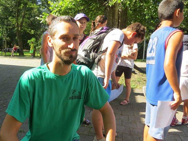 Martin Paĺov na jedné z akcí frýdecko-místeckých Prázdnin ve městě, kterou služba Rebel pořádala.