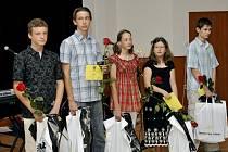 Talent roku 2009. Zleva Tomáš Homola, Petr Révay, Hana Walaská, Karolína Blažková a Matěj Pála.