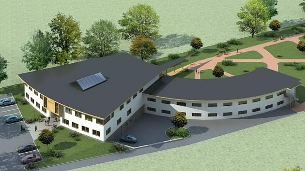 Takto by měl vypadat nový hospic, který chce město stihnout postavit ještě před příštími komunálními volbami ve frýdecké lokalitě za nemocnicí.