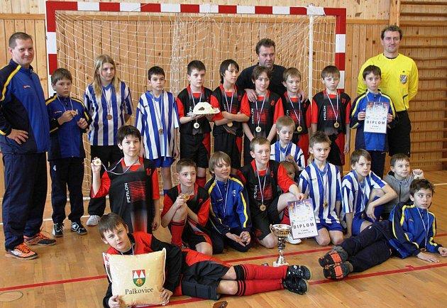 Mladí fotbalisté Palkovic.