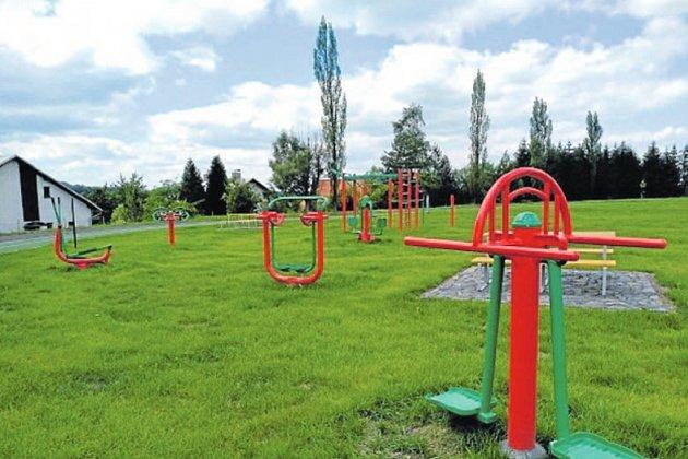 Nové hřiště v Kunčicích pod Ondřejníkem.