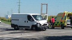 Nehoda u Horních Tošanovic.