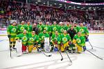 Exhibiční utkání legend v repríze finále z roku 1998 mezi HC Železárny Třinec - Petra Vsetín, 8. listopadu 2019 v Třinci. Petra Vsetín.