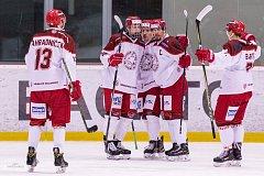 Hokejisté Frýdku-Místku se sice v zápase s ústeckým Slovanem radovali jako první, nakonec ale se soupeřem prohráli 1:3.