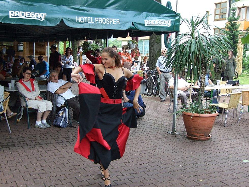 V sobotu se v Čeladné konal 2. ročník Lašského kulturního festivalu s Prosperitou. Na snímku tanec Margarity.