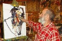 Hukvaldský akademický malíř Antonín Kroča představí svou tvorbu ve zrekonstruované Vratimovské galerii VG v kulturním středisku.