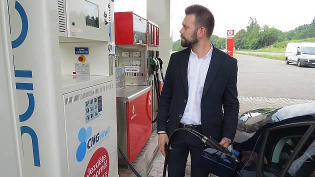 Čerpací stanice stlačeného zemního plynu - CNG.