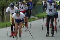Celkem šedesát závodníků se postavilo na start šestého ročníku Kolečkové lyže,