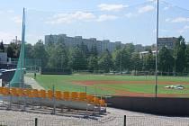 Basebalový areál vyrostl v těsné blízkosti řeky Ostravice v lokalitě Riviera.