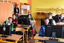 Moderní učebna Střední odborné školy Třineckých železáren.