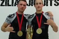 Vlevo Jan Heindl, vpravo Dominik Baďura.