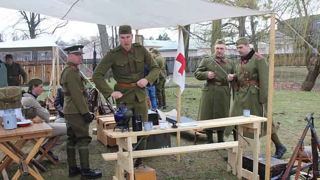 Vzpomínková akce u příležitosti výročí boje místecké vojenské posádky proti německým okupantům z roku 1939.