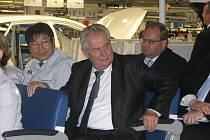 Prezident Miloš Zeman na návštěvě sídla společnosti Hyundai