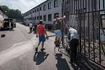 Uprchlický tábor ve Vyšních Lhotách na Frýdecko-Místecku.