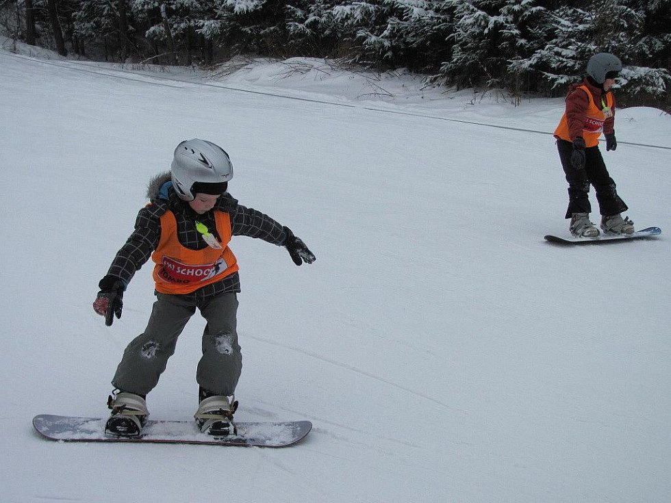 Prázdninové lyžování v Palkovicích.