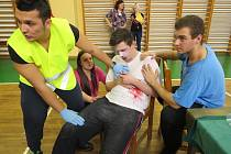 Studenti krajských středních zdravotnických škol ve středu změřili své síly v první pomoci.