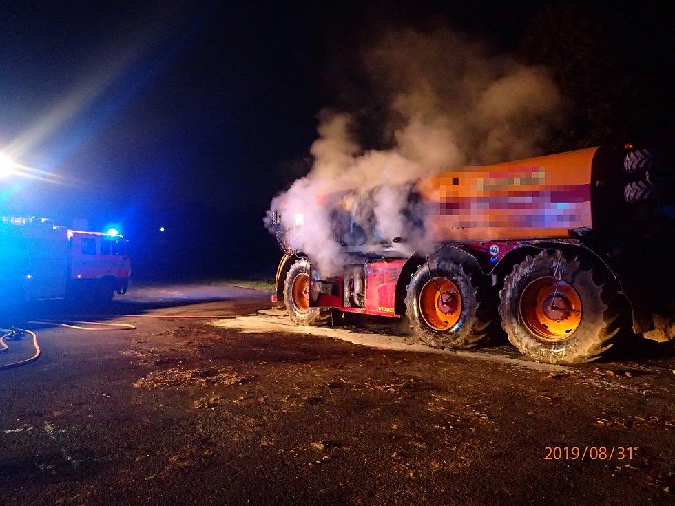 Požár v Rychalticích.