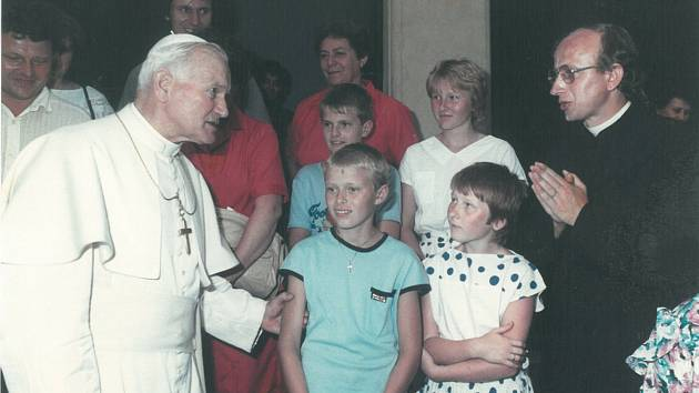 Rudolf Sikora s papežem Janem Pavlem II.