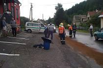 Nedělní nehoda v Janovicích.