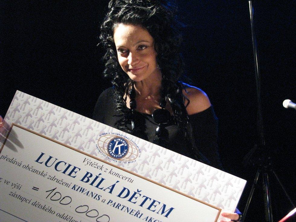 Z koncertu Lucie Bílá dětem.