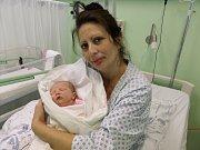 Sofie Horváthová s maminkou, Třinec, nar. 9.10, 48 cm, 3,11 kg, Nemocnice Třinec.