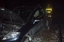 Nehoda osobního auta s vlakem v Jablunkově