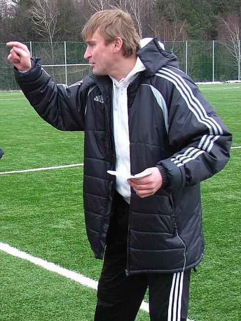Trenér Třince Ľubomír Luhový.