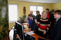 Vedení Frýdku-Místku během návštěvy společnosti TS.