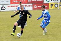 Fotbalisté Třince (v černém Martin Janošík) úvodní zápas jara ve F:NL nezvládli.