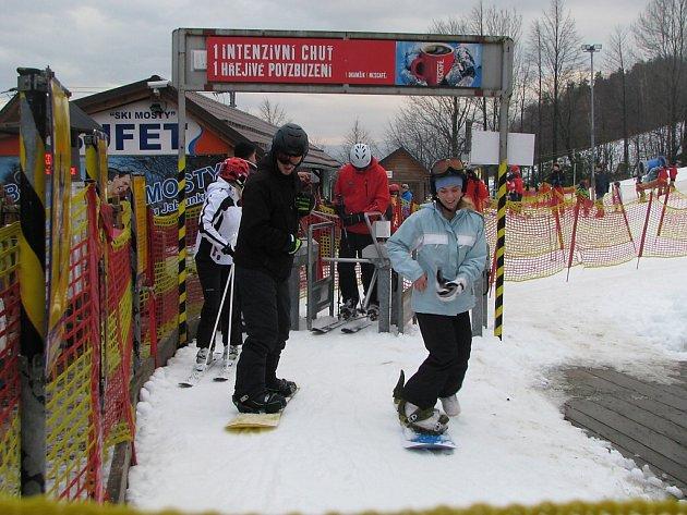 Ski areál v Mostech u Jablunkova.