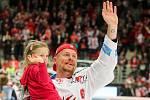 Mistrovská radost třineckých hokejistů.