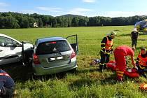 Při nehodě v Kozlovicích se ve čtvrtek odpoledne zranily děti.