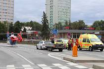 Dopravní nehoda ochromila provoz v Ostravské ulici.
