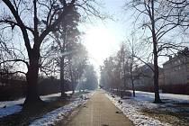 Chodník v Jablunkovské ulici v Třinci.