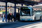 Třinec v celostátní karanténě (Autobusové nádraží), 25. března 2020. Vláda ČR vyhlásila dne 15.3.2020 celostátní karanténu kvůli zamezení šíření novému koronavirové onemocnění (COVID-19).