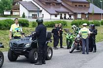 Policejní kontrola zaměřená na motocyklisty