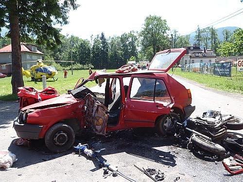 Čtvrteční nehoda v Čeladné.