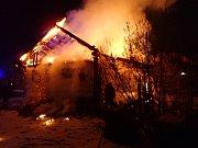 Požár rodinného domu ve Staříči.