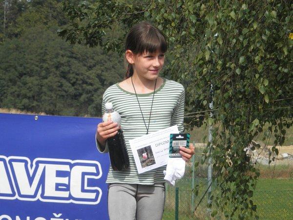 Díky malé chybičce přišla ozlatou medaili vkategorii D10C Kateřina Zahradníková.