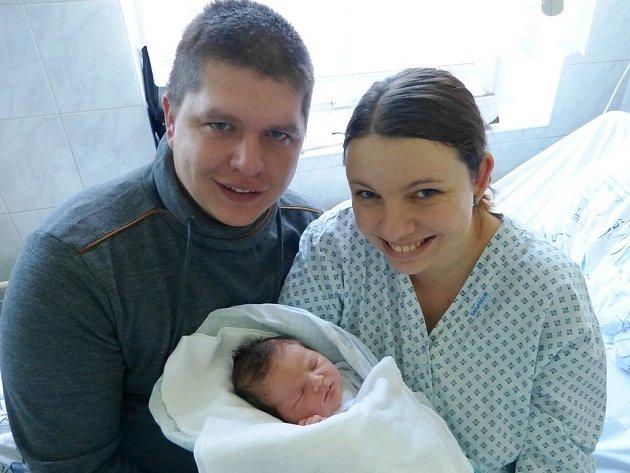 Vojtěch je prvním dítětem, které se letos narodilo vtřinecké porodnici. Přivedla jej na svět maminka Petra zNávsí.