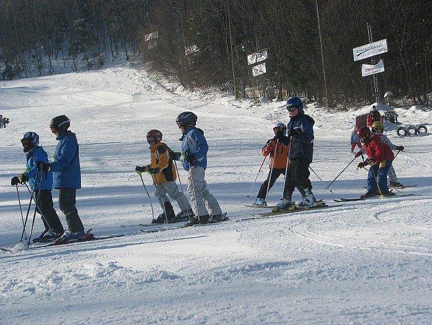 Lyžování v Palkovicích ve čtvrtek 4. února.