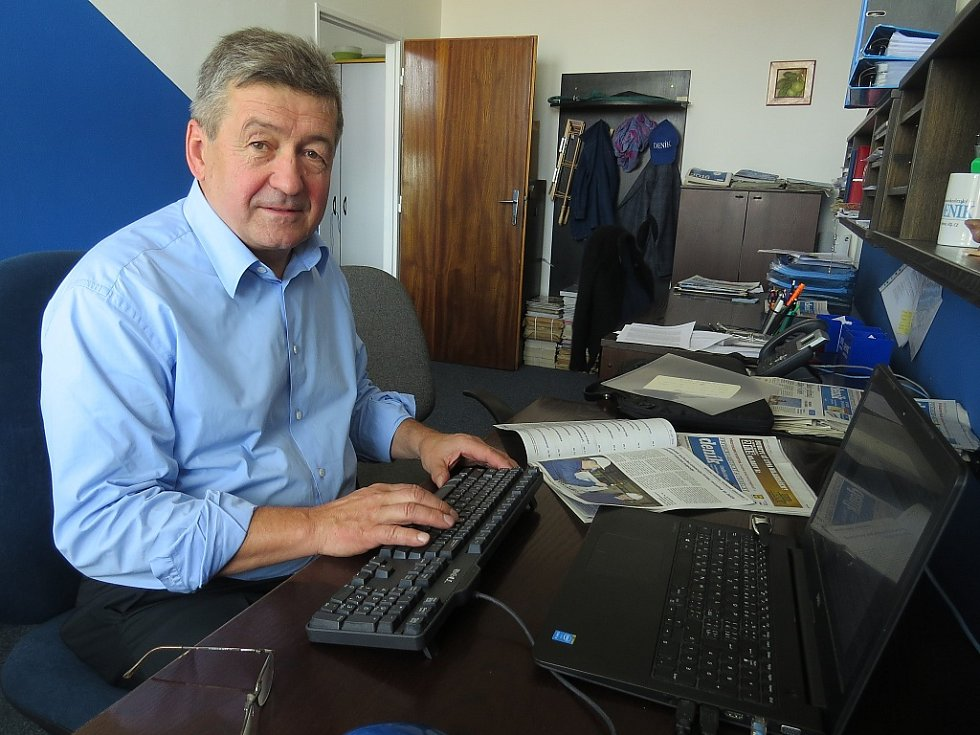 Jiří Cienciala při on-line rozhovoru v redakci FM a Třineckého deníku.